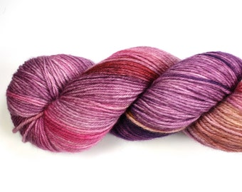 Rosaleen--hand dyed sock weight yarn, MCN (435yds/100gm)