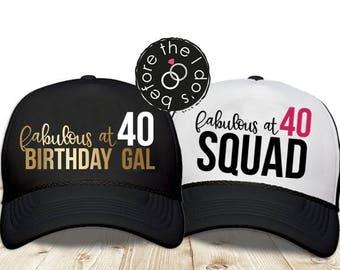 Adult 40th Birthday Trucker Hat /// Adult Birthday Party, 40th Birthday Party   #1677