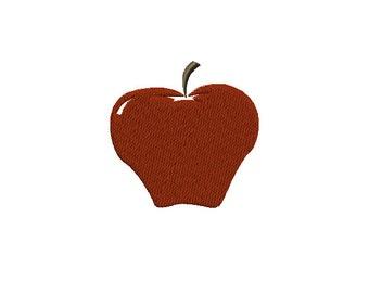 Apple Machine Embroidery Design - 2 sizes
