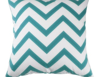 Chevron Pillow | Pillow Cover | Zig Zag | Throw Pillow | 18 x 18 Pillow | Home Decor | Teal Pillow | Teal Chevron Pillow | Gift | Rustic