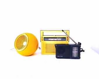 vintage radio, mid-century, Portable, Soviet Transistor, Radio, retro, Collectible, vintage 1960s