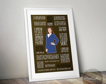 Agent Carter poster  - Choose from 2 characters (Made to order)