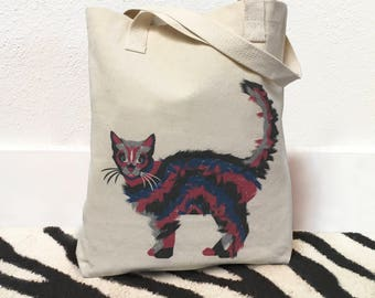 Cat bag, Cat tote bag, Tote bag cat, Cat tote, Kitty cat bag, Cotton tote bags, Grocery bag tote, Shopping bag, Everyday bag, Book bag, Tote