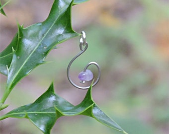 Amethyst jewelry amethyst necklace genuine amethyst pendant whimsical jewelry whimsical pendant stone gemstone healin crystal necklace aywin