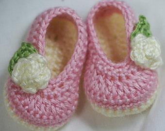 Ballet Slippers Crochet Pattern Ballet Slippers  for baby ROSEY BALLET SLIPPERS digital
