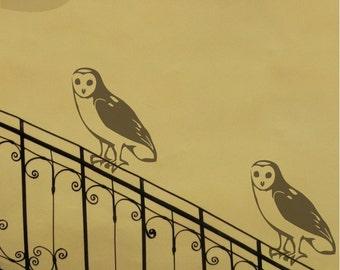 Hoot Hoot - 2 Owls - Vinyl Wall Decals