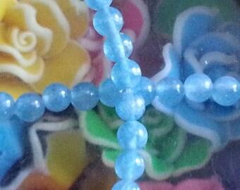 20 aqua blue sponge quartz with 4mm hole 1 mm