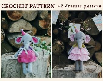 Crochet Amigurumi Pattern Elephant Wendy Pattern Elephant Baby Shower Girl Amigurumi Toy Pattern Crochet Animal Pattern