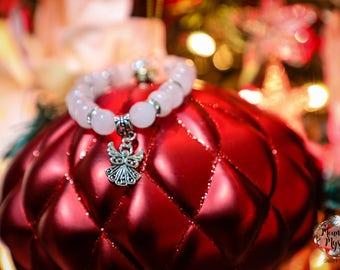 Angel Rose Quartz Stretch Bracelet