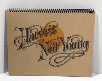 Neil Young Harvest Album Cover Notebook Handmade Spiral Journal