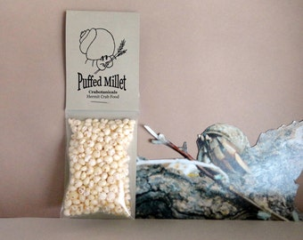 Hermit Crab Food Puffed Millet whole grain hermit crab and rodent food