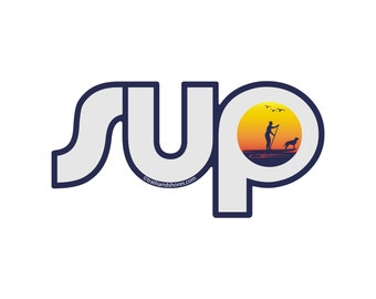 SUP Sunset Decal