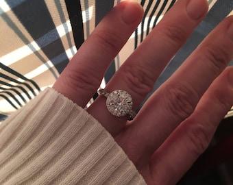 Diamond Engagement Ring 3.65Ct. VS2 F PLATINUM