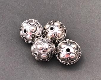 Sterling Silver Bali Bead Style B146