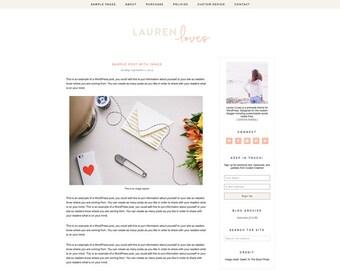 Lauren Loves - A Responsive WordPress Blog Theme