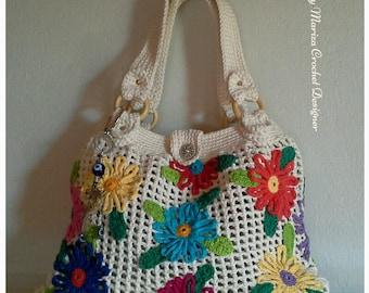 Crochet bag. Bags. Floral bags