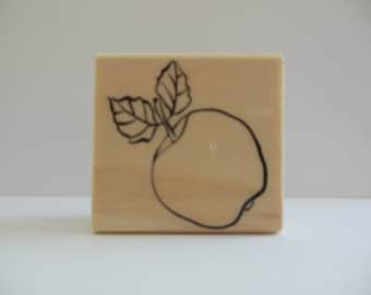 Apple Stamp - Bountiful Harvest Collection - Wood Mounted Rubber Stamp