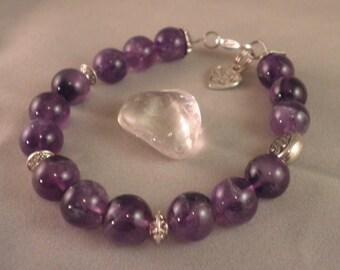 BROW CHAKRA HEALING Balancing Amethyst- Yoga Intention Bracelet-Choose Bead Sz. How to Determine if Your Chakra is balanced?