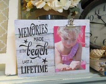 """Wood Beach Frame, """"Memories Made at the Beach Last a Lifetime"""", Beach House Decor, Beach Family Vacation Frame, Beach Wedding Frame"""