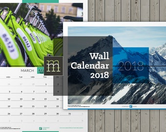 Editable Wall Calendar 2018 InDesign Template