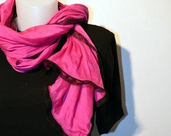 fuchsia scarf
