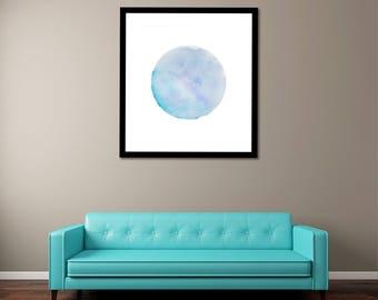 Planet Watercolor - Solar System Art - Instant Download - Planet Print - Watercolors - Solar System Printable - Watercolor Print