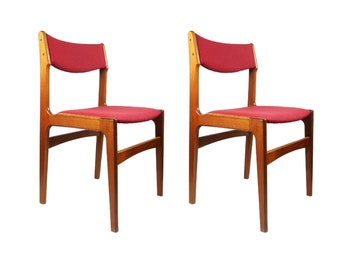 Pair of Danish Modern Dining Chairs by Erik Buch For Anderstrup Møbelfabrik
