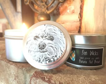Banana Nut Bread Hand-Poured Soy Candle