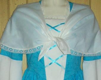 Girls Colonial Scarf Fichu Shawl, Pioneer, Prairie, Costume