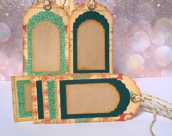 Christmas - Set of 6 labels caeaux