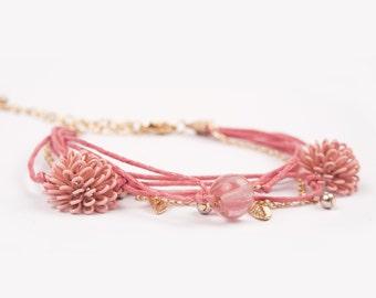 Bracelet Coraille rose cute elegant