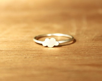 Tiny Cumulus Cloud Ring -Sterling Silver