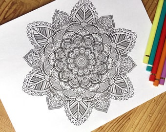 Intricate Coloring Pages For Adults : Coloring page heart printable download love colouring pages