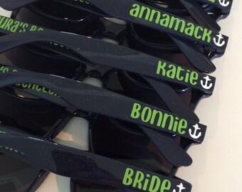 Personalized Sunglasses, Custom Sunglasses, Bachelorette Sunglasses, Bachelorette Favor, Bachelorette Gift, Wedding Favor