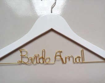 Personalized Wedding Hanger, Bride Hanger,Bridal party gifts,Name hangers,Bridesmaid hangers,Mother hangers, Bride Bridesmaid gifts