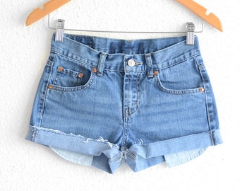 Levis High Waisted Shorts size small Shorts Vintage Levi High Waisted Jean Shorts Hight Waist Shorts Denim Cutoffs Vintage Levis xs waist 26