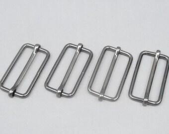 10 Gunmetal 1.5 Inch (38mm) Strap Adjusters / Buckles / Sliders