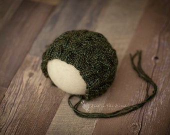 Samson Bonnet - Newborn - READY TO SHIP  - hat - photo prop - newborn - mohair