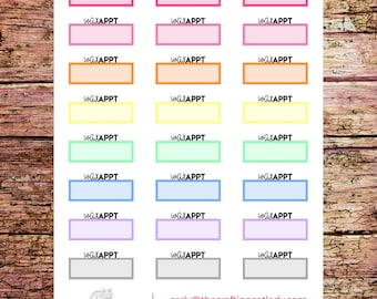 Multicolor Wax Appointment Planner Stickers | Trip to the Spa | Salon Stickers | Eyebrow Stickers | Hair Removal Stickers | Waxing Stickers