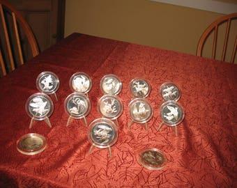 Franklin Mint Audubon Bird Medals