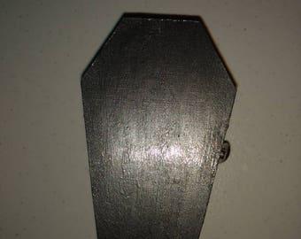 Gun Metal Grey coffin with matching dice set