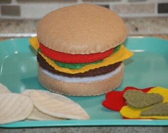 Felt Hamburger Set
