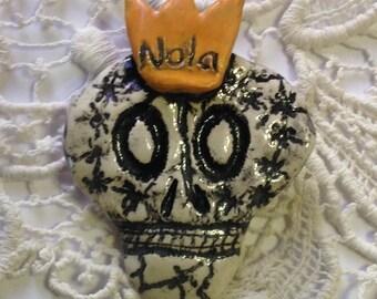 Skeleton Pin with NOLA Crown