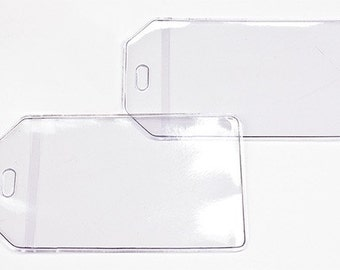 50-Pack Clear Luggage Tags and Loops To Make Your Own Personalized Luggage Tags; Mr and Mrs Tags