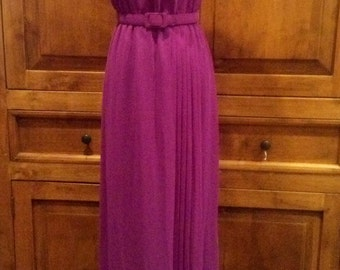 Vtg Ferrali by Phillipe Lavender Color Long Dress Sz 4 - FREE domestic shipping