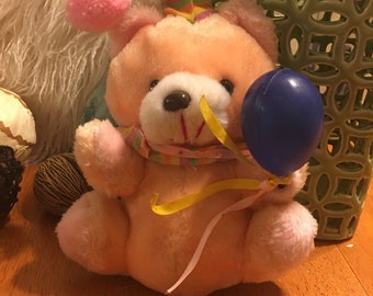 Bear Plush With Balloons