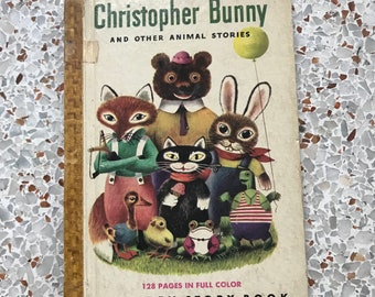 1949 Hardcover Edition 'Christopher Bunny' Golden Story Book By Jane Werner and Richard Scarry