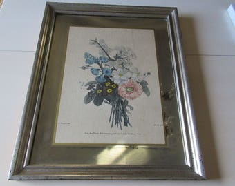 FRANCE RUOTTE MIRROR Wall Hanging With Spray of Flowers