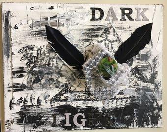 Original One Of a Kind Mixed Media Acrylic Assemblage - The Duality of Man