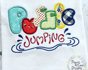 Puddle Jumping Girls Shirt - Personalized, Monogrammed, Embroidered